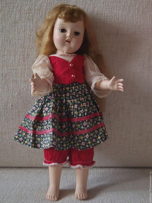Винтажные куклы и игрушки. Ярмарка Мастеров - ручная работа. Купить Американская винтажная кукла Hard Plastic. Handmade. Ярко-красный