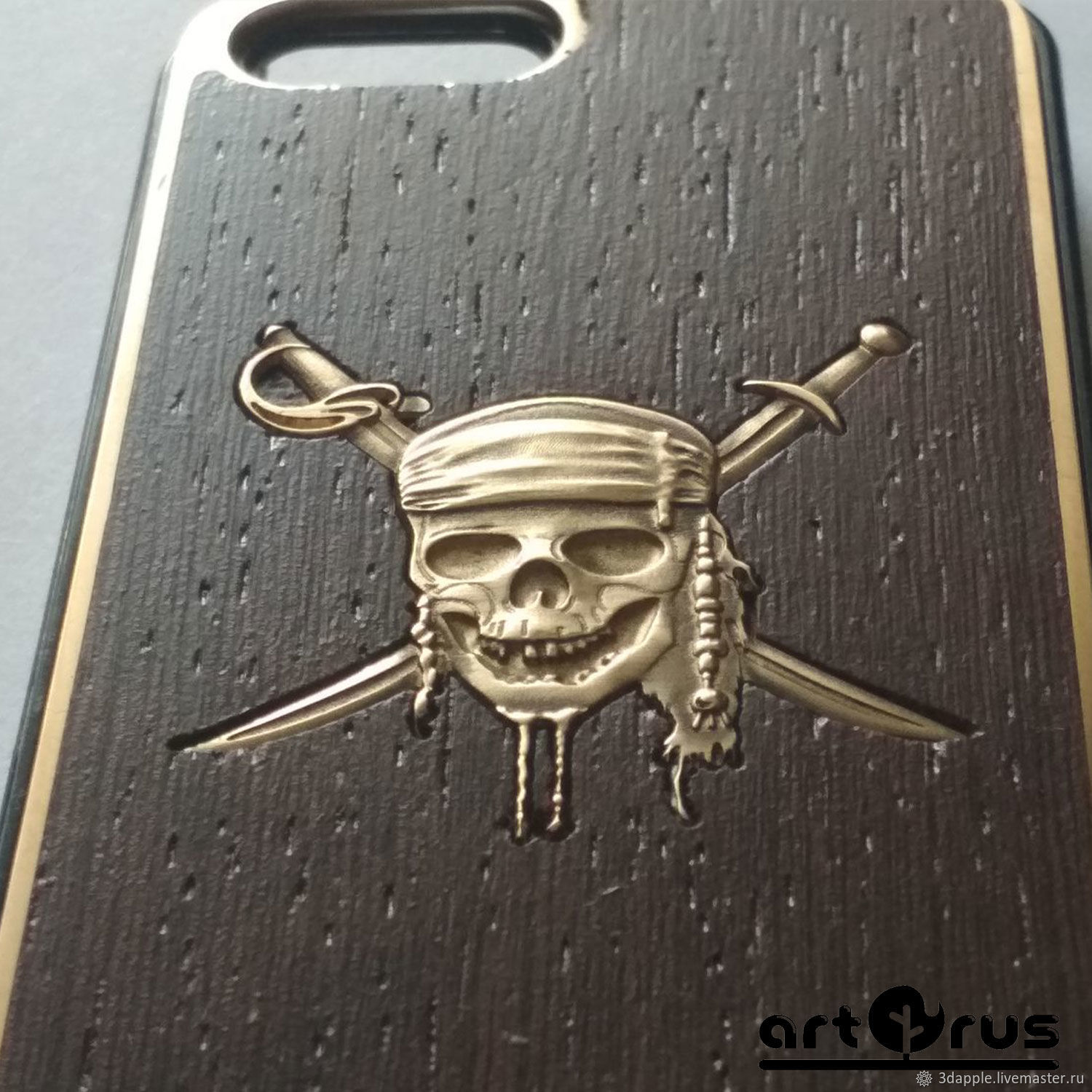 PIRATE of the CARIBBEAN - protective bumpers for your phone (gray, white, bronze), Case, Moscow,  Фото №1