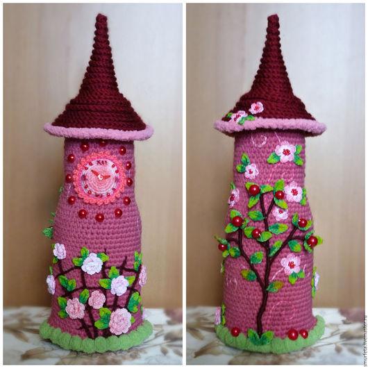 Кукольный дом ручной работы. Ярмарка Мастеров - ручная работа. Купить Вязаная башня с часами. Handmade. Башня, вязание на заказ