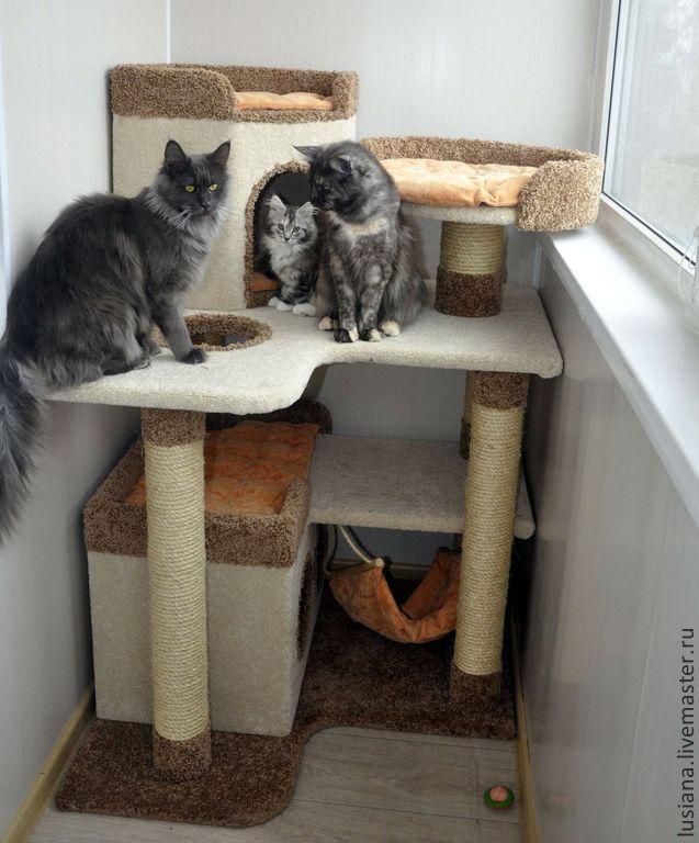 Самодельный домик для кота (12 фото) - Fishki net