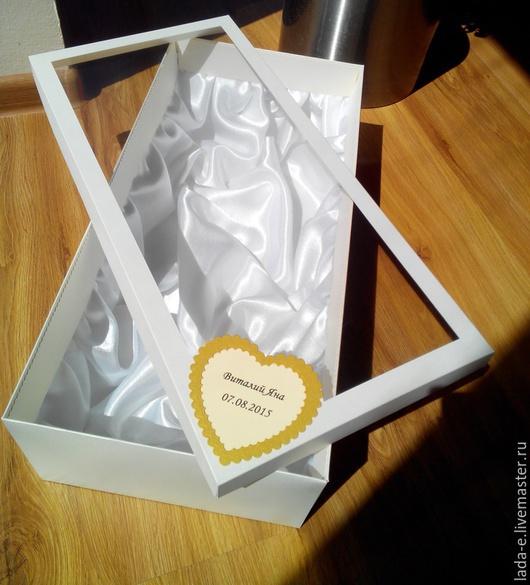Подарочная упаковка ручной работы. Ярмарка Мастеров - ручная работа. Купить Свадебная упаковка. Handmade. Кремовый, коробка с окошком, коробочка
