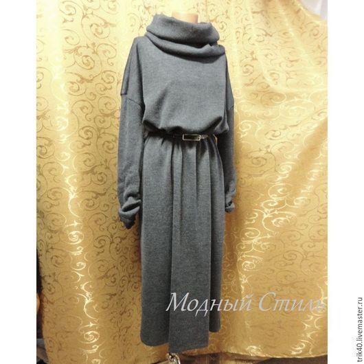 """Платья ручной работы. Ярмарка Мастеров - ручная работа. Купить """"Dolce vita"""". Handmade. Тёмно-синий, Машинное вязание, полушерсть"""