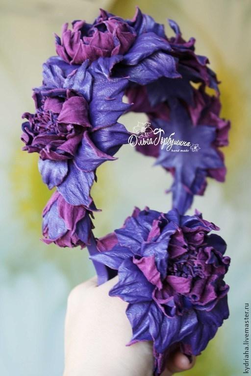 Ободок-венок - 4 цветка и 1 бутон - 4000 руб, браслет - 1500 руб.