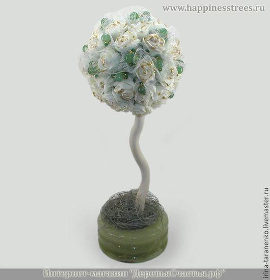 Дерево из нефрита `Нефритовый подарок` в чаше из оникса