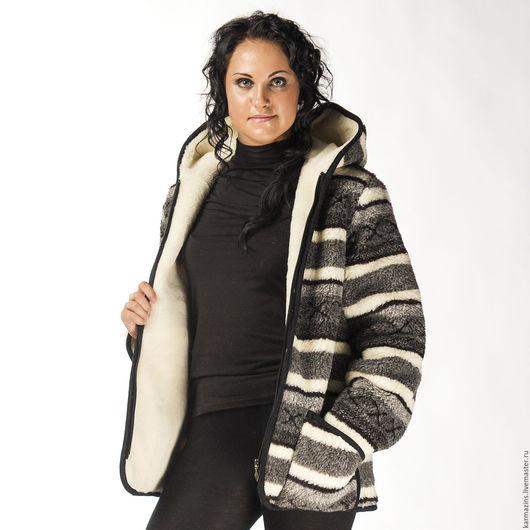 Верхняя одежда ручной работы. Ярмарка Мастеров - ручная работа. Купить СКАНДИ ГРЕЙ Куртка двухслойная из шерсти Мериноса. Handmade.