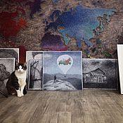 Картины и панно ручной работы. Ярмарка Мастеров - ручная работа Якутия в стиле стринг арт. Handmade.