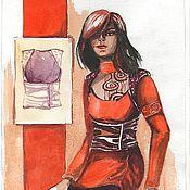 Дизайн и реклама ручной работы. Ярмарка Мастеров - ручная работа Эскиз костюма. Handmade.