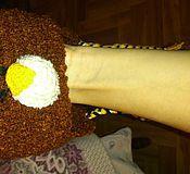 Аксессуары ручной работы. Ярмарка Мастеров - ручная работа Шапка - мишка для малыша. Handmade.