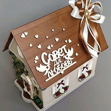 Свадебный салон ручной работы. Ярмарка Мастеров - ручная работа Свадебная казна, домик,упаковка для денег, свадебная коробка, подарок.. Handmade.