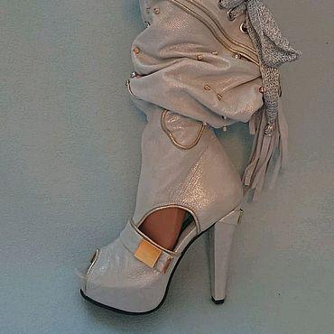 Обувь ручной работы. Ярмарка Мастеров - ручная работа Летние сапоги из натуральной кожи. Handmade.