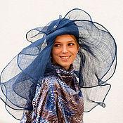 """Аксессуары ручной работы. Ярмарка Мастеров - ручная работа соломенная шляпа Синяя птица"""". Handmade."""