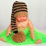 Работы для детей, ручной работы. Ярмарка Мастеров - ручная работа Колпак шапочка для фотосессии новорожденных (фотосессия шапка реквизит. Handmade.