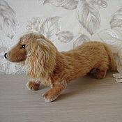 Игрушки винтажные ручной работы. Ярмарка Мастеров - ручная работа Старинная игрушка Steiff, собачка такса. Handmade.