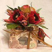 Сувениры и подарки ручной работы. Ярмарка Мастеров - ручная работа Украшение на коробку конфет. Handmade.