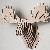 Для дома и интерьера ручной работы. Ярмарка Мастеров - ручная работа Голова лося. Handmade.