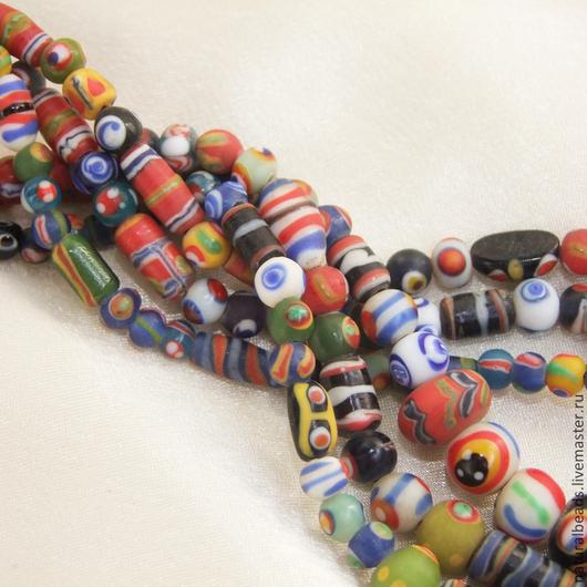 Для украшений ручной работы. Ярмарка Мастеров - ручная работа. Купить КИФА МИКС  стеклянные бусины ручной работы Африка. Handmade.