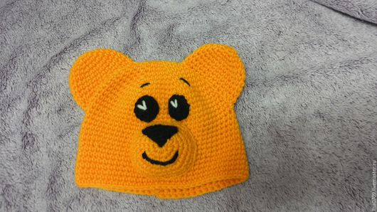 Шапки и шарфы ручной работы. Ярмарка Мастеров - ручная работа. Купить детская шапочка. Handmade. Желтый, рисунок, вязание для детей