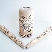 Свадебный салон ручной работы. Ярмарка Мастеров - ручная работа Свадебные резные свечи - набор из 3х свечей - бежевый белый коричневый. Handmade.