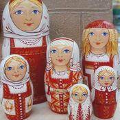 Русский стиль handmade. Livemaster - original item Matryoshka. The maiden beauty - long braid.. Handmade.