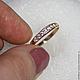 Кольца ручной работы. Заказать кольцо дорожка с фианитами (золото 585). Serebro-i-kamni. Ярмарка Мастеров. Фианиты, золото