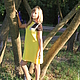 """Платья ручной работы. Ярмарка Мастеров - ручная работа. Купить Платье """"Абстракция в желтом"""". Handmade. Платье, ирландское кружево, абстрактный"""