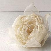 Украшения handmade. Livemaster - original item Ring - vintage flower. Fabric rose. Handmade.