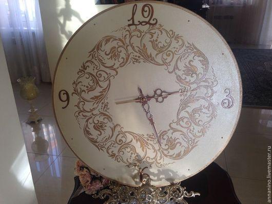 Часы для дома ручной работы. Ярмарка Мастеров - ручная работа. Купить настенные часы Вальс Франзузская Ваниль большие. Handmade.