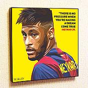 Картины и панно handmade. Livemaster - original item Painting Pop Art Neymar. Handmade.