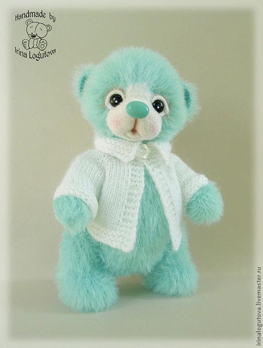 Мишки Тедди ручной работы. Ярмарка Мастеров - ручная работа. Купить Мятный медвежонок - вязаная игрушка. Handmade. Вязаный мишка