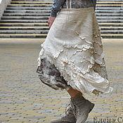 "Одежда ручной работы. Ярмарка Мастеров - ручная работа Валяная, шёлковая юбка ""Эко "" - 2. Handmade."