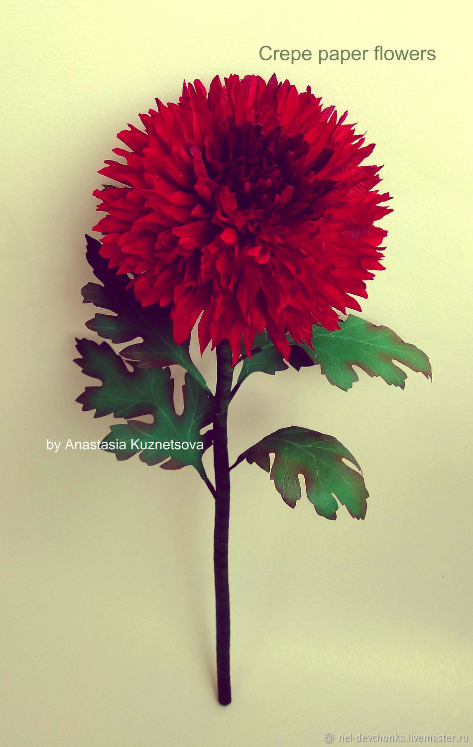 Chrysanthemum From Crepe Paper Shop Online On Livemaster With