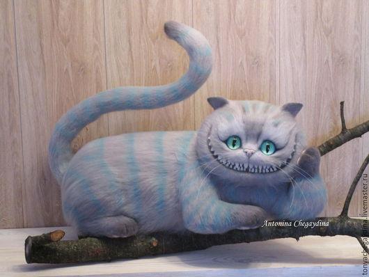 Игрушки животные, ручной работы. Ярмарка Мастеров - ручная работа. Купить Чеширский кот. Handmade. Серый, алиса в стране чудес