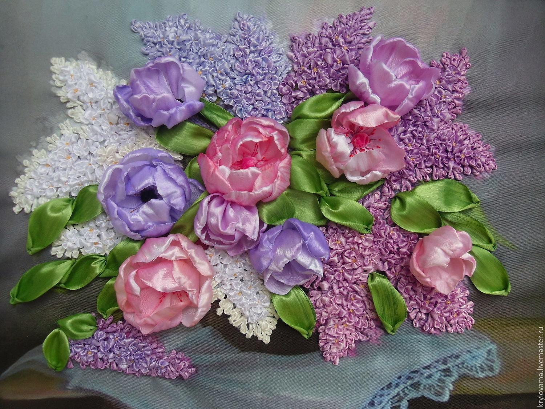 Вышивка атласными лентами не цветы 189