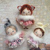 Украшения ручной работы. Ярмарка Мастеров - ручная работа Куколки брошечки. Handmade.