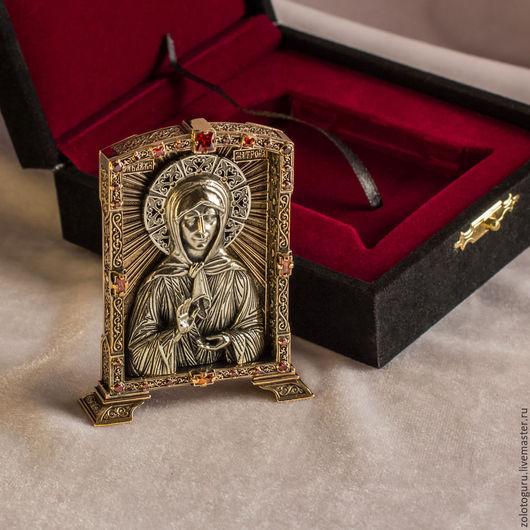 Иконы ручной работы. Ярмарка Мастеров - ручная работа. Купить Икона Святая Матрона (средняя) из бронзы. Handmade. Икона