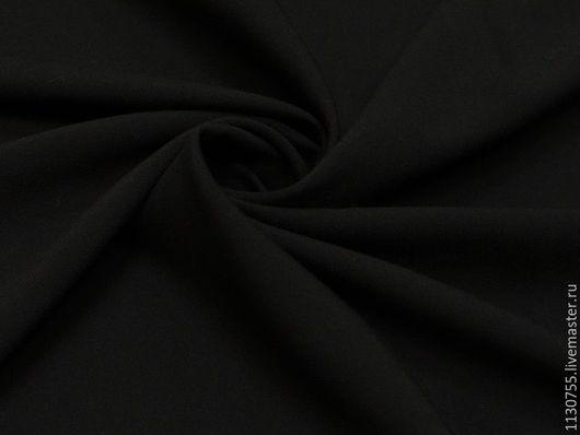 Шитье ручной работы. Ярмарка Мастеров - ручная работа. Купить ткань костюмная вискоза стрейч черная. Handmade. Черный