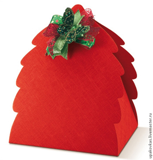 Новый год 2017 ручной работы. Ярмарка Мастеров - ручная работа. Купить Коробки подарочные новогодние большие - ёлочки. Handmade.