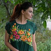 """Одежда ручной работы. Ярмарка Мастеров - ручная работа Блуза """"Лилии в цвету"""". Handmade."""