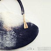 handmade. Livemaster - original item Big bag of felt, a large felted bag. Handmade.