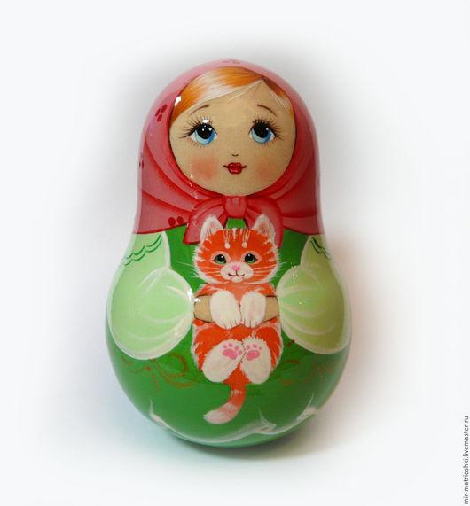 Матрёшка неваляшка `Анюта Матрёшкина` (со звоном)  Порадует как взрослого, так и ребёнка. Принесёт в дом добро и воспоминания о лете. Неваляшка матрешка это символ России Доставка работ по всему м