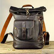Сумки и аксессуары handmade. Livemaster - original item Urban backpack. Genuine leather. Handmade.. Handmade.