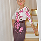 """Платья ручной работы. Ярмарка Мастеров - ручная работа. Купить Платье """" Сакура"""". Handmade. Розовый, платье коктейльное"""
