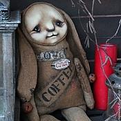 """Куклы и игрушки ручной работы. Ярмарка Мастеров - ручная работа зайка """"Любовь и кофе """". Handmade."""
