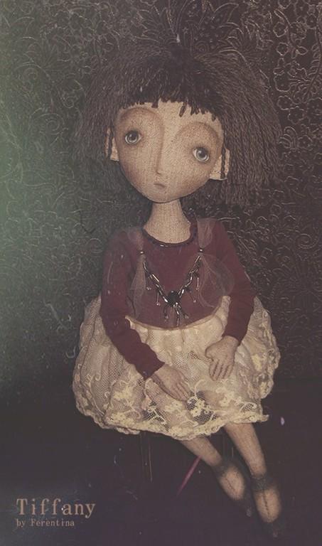 Коллекционные куклы ручной работы. Ярмарка Мастеров - ручная работа. Купить Tiffany. Handmade. Тиффани, текстильная кукла, ферентина, винтаж