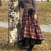 """Одежда ручной работы. Ярмарка Мастеров - ручная работа Юбка в стиле бохо """"Бордо"""". Handmade."""
