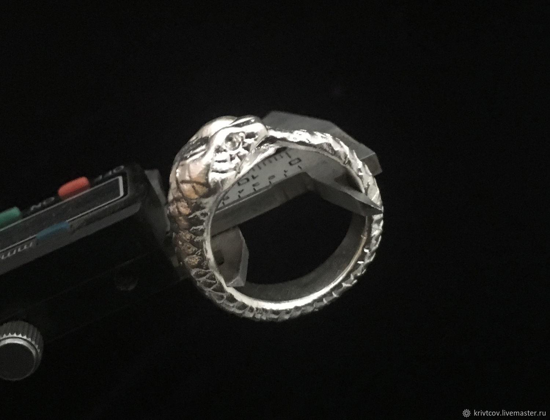 "Кольцо ""Уроборос"" Серебро 925 пробы. 19.6 грамма, Кольца, Пенза,  Фото №1"