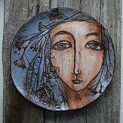 """Посуда ручной работы. Ярмарка Мастеров - ручная работа Тарелка """"Дева"""". Handmade."""