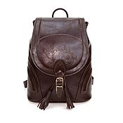 Сумки и аксессуары handmade. Livemaster - original item Backpack women`s leather brown Beatrice. Handmade.
