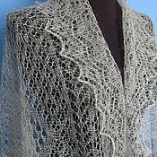 Аксессуары handmade. Livemaster - original item 216 Orenburg downy tippet gray accessories shawls and stoles. Handmade.
