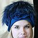 """Шапки ручной работы. Ярмарка Мастеров - ручная работа. Купить Шапка """" Голубая лагуна"""". Handmade. Меховая шапка"""